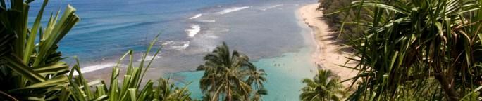La playa Ke'e, en Kauai, la isla jardín del archipiélago de Hawaii, EE.UU.