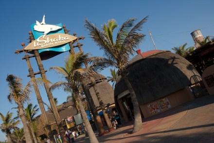 Entrada al acuario uShaka Marine World de Durban, Sudáfrica