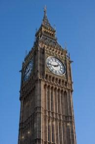 El reloj de las Casas del Parlamento de Londres, hogar del Big Ben, Reino Unido