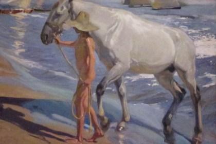 El baño del caballo, Museo Sorolla, Madrid, España