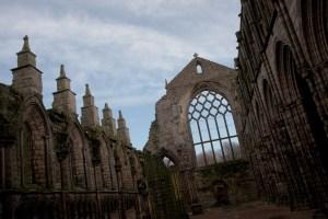 Ruinas de la Abadía de Holyrood, Edimburgo, Escocia