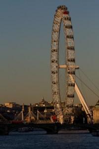 Atardecer en el London Eye, Londres, Inglaterra