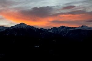 Un rojo amanecer en los Pirineos, Arinsal, Andorra
