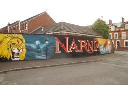 Mural de C.S. Lewis y su obra Las Crónicas de Narnia, Belfast, Irlanda del Norte