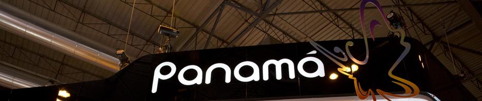 Letrero del stand de Panamá en FITUR 2013