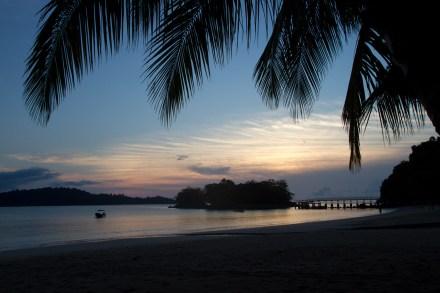 Amanecer en el campamento de la isla Coiba, Panamá