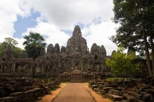 Vista general de Bayon, Siem Riep, Camboya