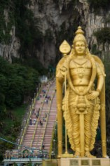 Entrada a las cuevas Batu, Kuala Lumpur, Malasia
