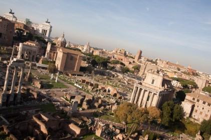 Vista general del foro romano, Roma, Italia