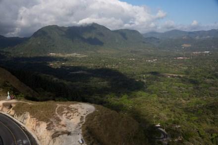 Panorámica del Valle de Antón desde el cerro La Cruz, Panamá