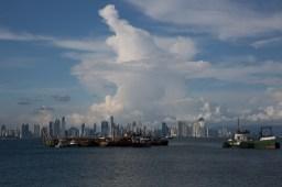 Panorámica de la Ciudad de Panamá desde la Calzada de Amador, Panamá
