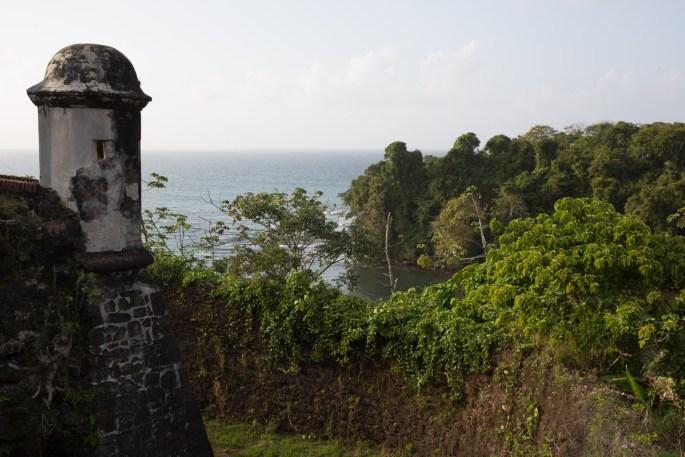 Fuerte San Lorenzo y mar Caribe, Panamá
