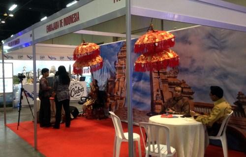 Stand de la Embajada de Indonesia en la Feria Internacional de Turismo 2014