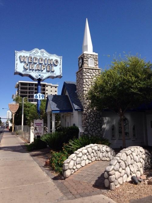 Una de las capillas de bodas que encontramos en Las Vegas