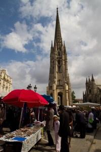 Mercado matutino de Saint Michel, Burdeos, Francia