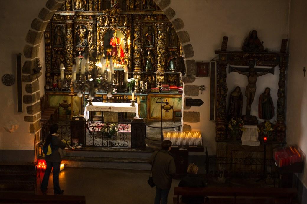 El interior del santuario