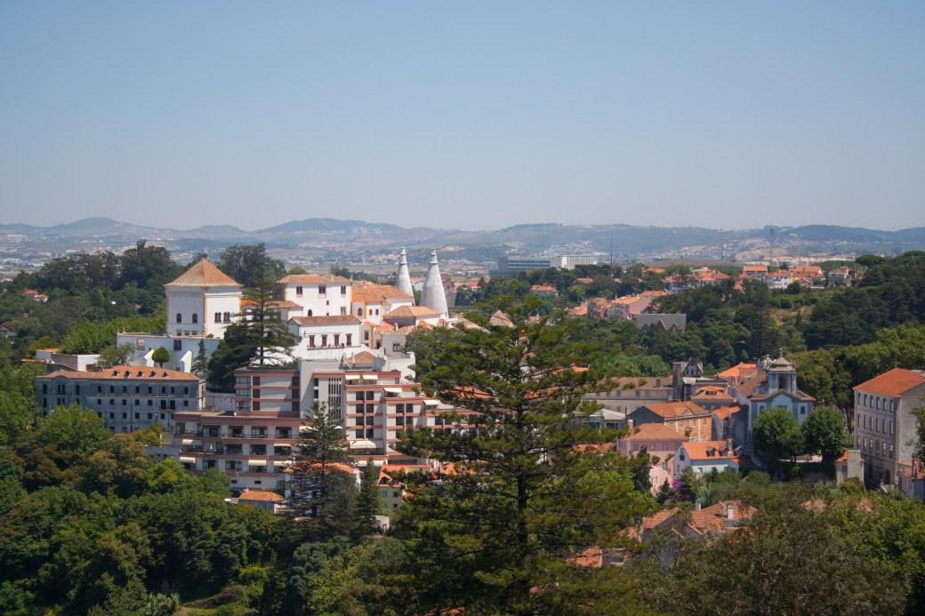 Vistas de Sintra desde la terraza