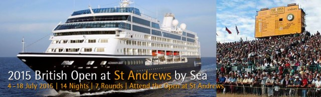 PerryGolf's 2015 British Open at St Andrews by Sea Golf Cruise Package Vacation - PerryGolf.com/britishopen