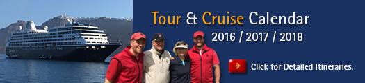 PerryGolf 2016 / 2017 / 2018 Tour & Cruise Calendar
