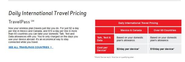 Verizon - New International Phone Plan
