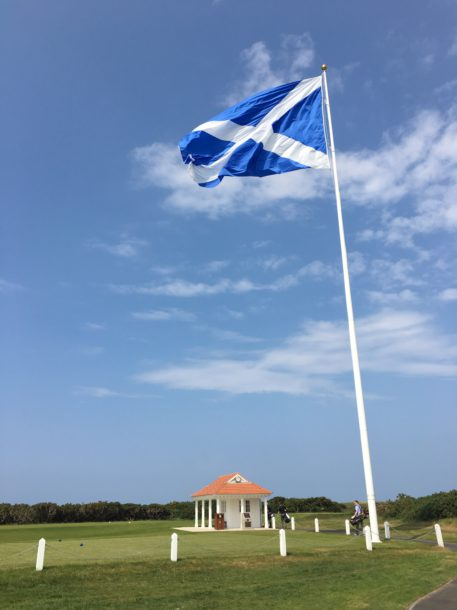 The Ailsa Course at Trump Turnberry - Starter hut next to No. 1 - PerryGolf.com