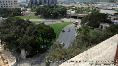 Dealey Plaza from the sixth floor