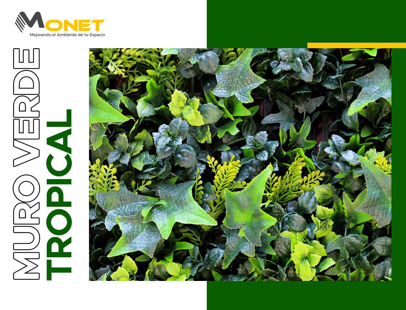 Muro Verde Artificial Modelo Tropical