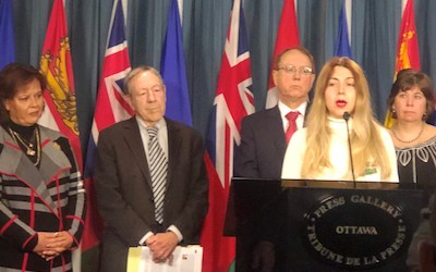 تقاضای تحریم مقامات جمهوری اسلامی، از طرف گروهی از نمایندگان پارلمان کانادا
