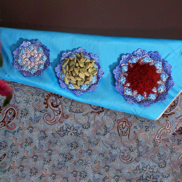 enamel hand-painted plate