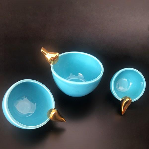 Glazed ceramic bowls