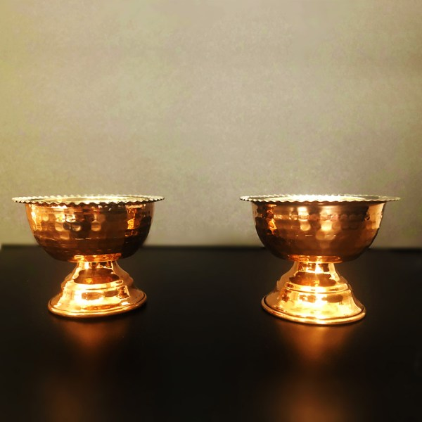 Copper cup with pedestal