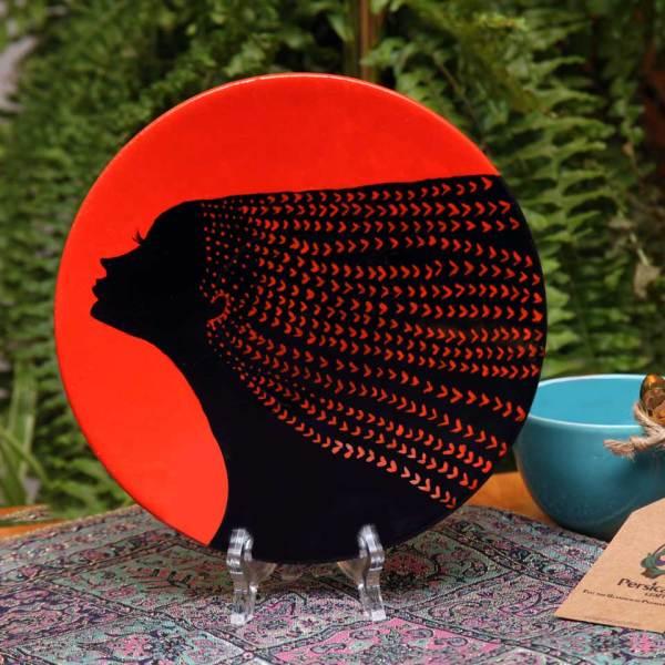 Decorative pottery plate (Night flower)