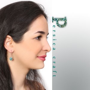 turquoise earrings circle