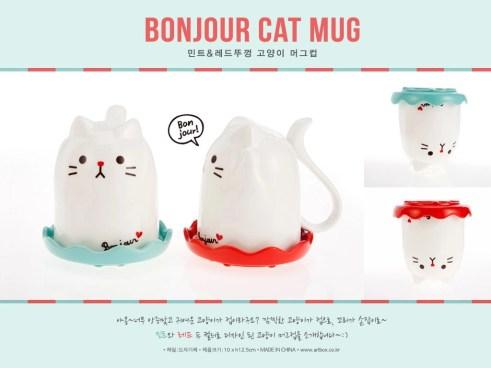 포스-고양이머그컵