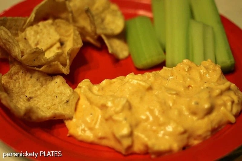 Slow Cooker Buffalo Chicken Dip | Persnickety Plates