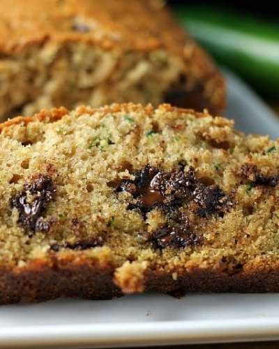 Luckily this recipe for Chocolate Chip Zucchini Bread makes two loaves because you're going to keep eating it! | Persnickety Plates