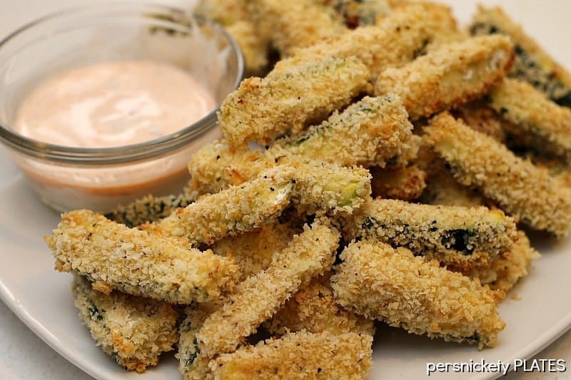 Baked Zucchini Fries   Persnickety Plates