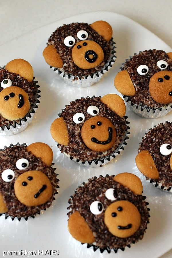 Monkey Cupcakes | Persnickety Plates