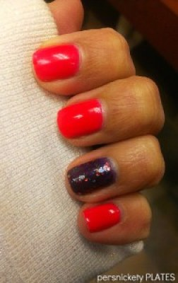 China Glaze Pool Party & Super Black Lacquer Sweet Tooth