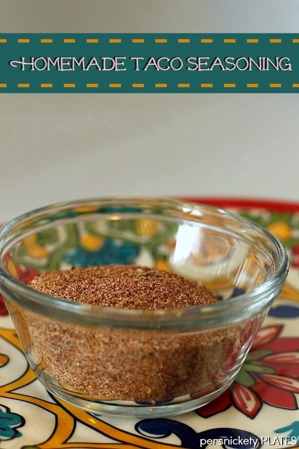 Homemade Taco Seasoning - why buy the packets when you can make your own?   Persnickety Plates