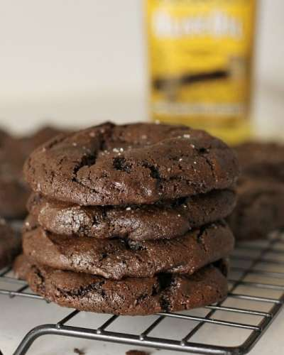 Olive Oil Sea Salt Brownie Cookies taste so rich and fudgey, like a chewy brownie should!