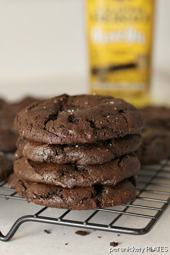 Olive Oil and Sea Salt Brownie Cookies taste so rich and fudgey, like a chewy brownie should!
