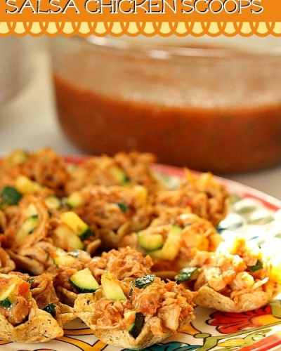 Salsa Chicken Scoops with Zucchini | Persnickety Plates
