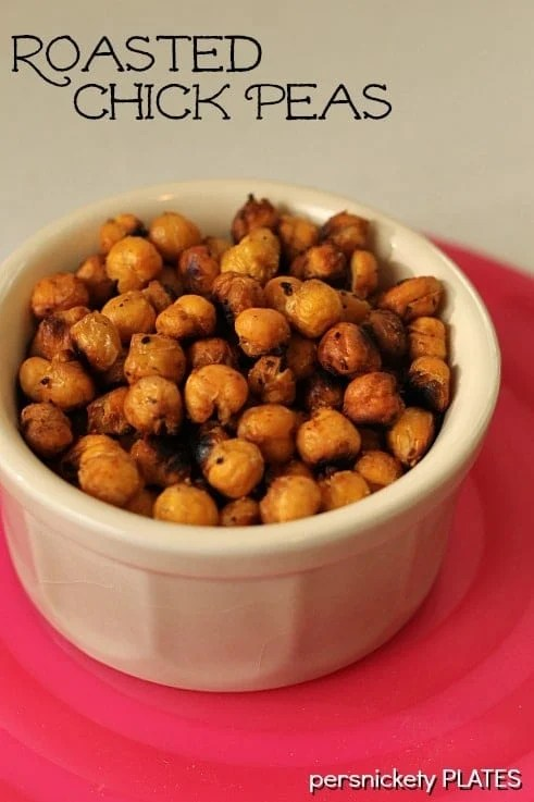 Roasted Chick Peas - a healthy but delicious snack!   Persnickety Plates