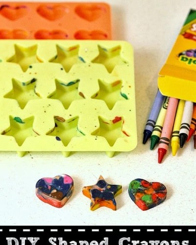 DIY Shaped Crayons - recycle your old broken crayons into fun new shapes! | Persnickety Plates