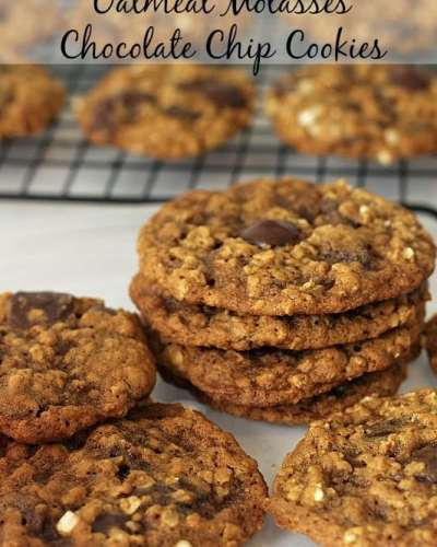 Oatmeal Molasses Chocolate Chip Cookies | Persnickety Plates