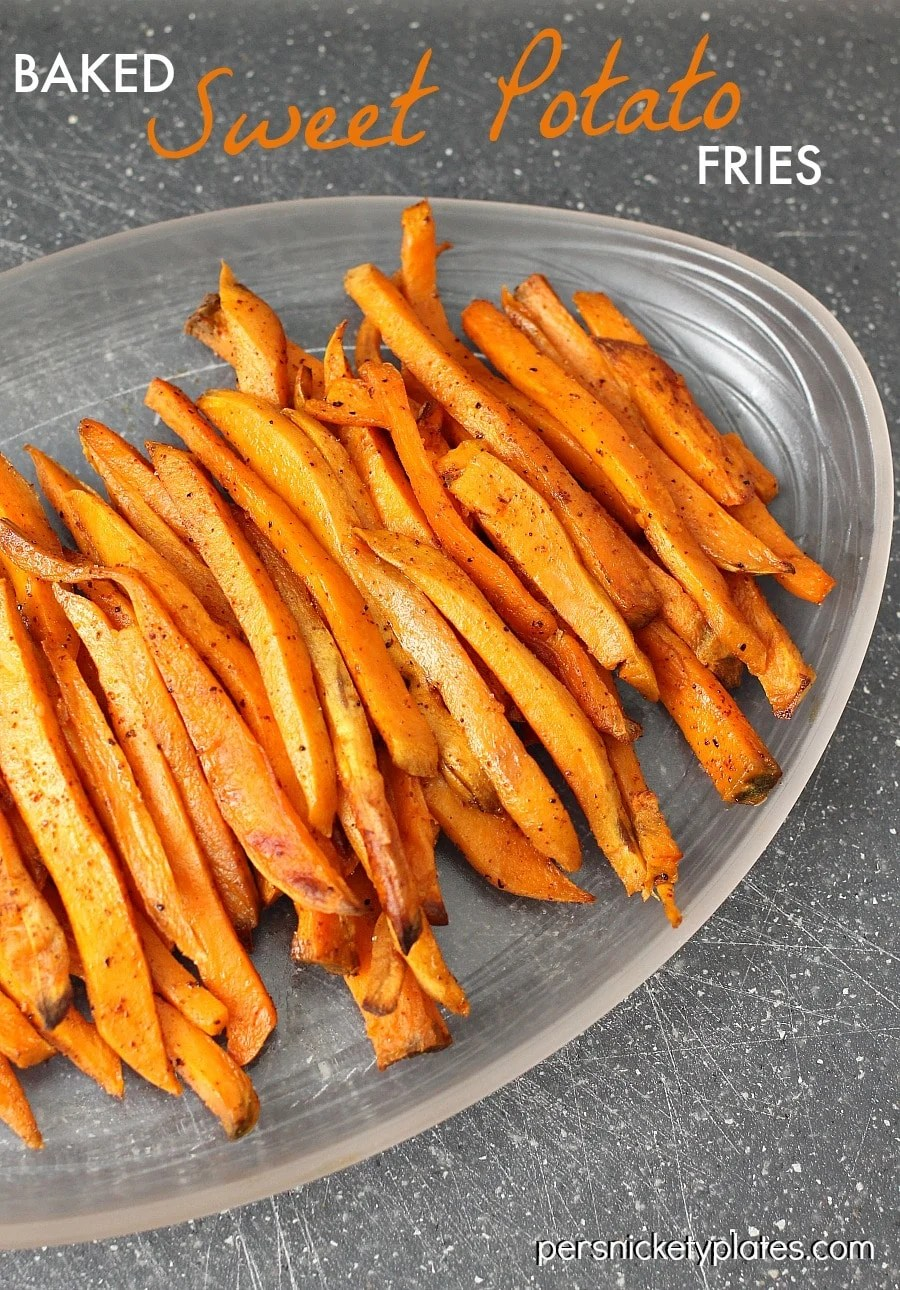 Baked Sweet Potato Fries | Persnickety Plates