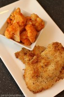 Panko Crusted Chicken with Buffalo Cauliflower | Persnickety Plates