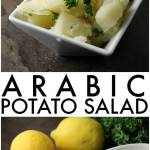 Super simple Arabic Potato Salad only has a few ingredients - potatoes, lemon, oil, garlic, and parsley – but is full of flavor and because there is no mayonnaise, it's great for a picnic! | Persnickety Plates