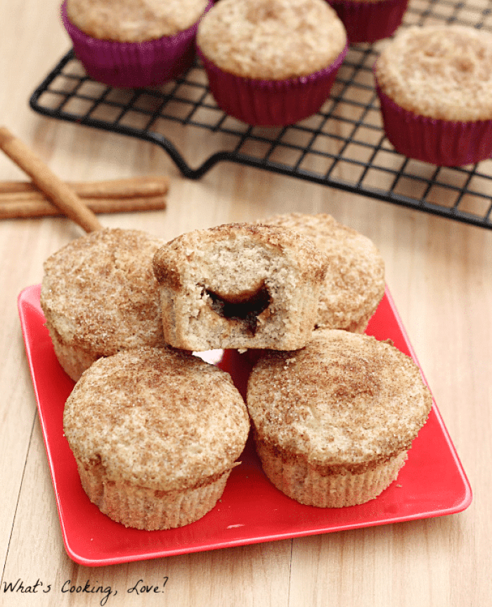 Apple Butter Stuffed Cinnamon Muffins7